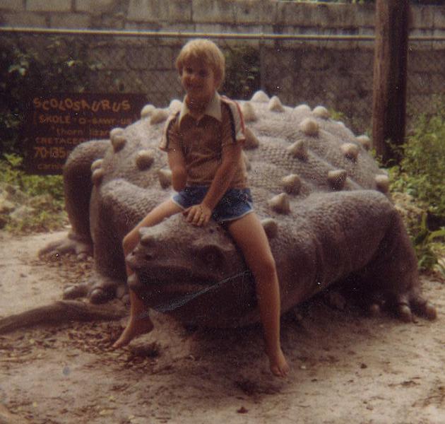 Me on a Dino
