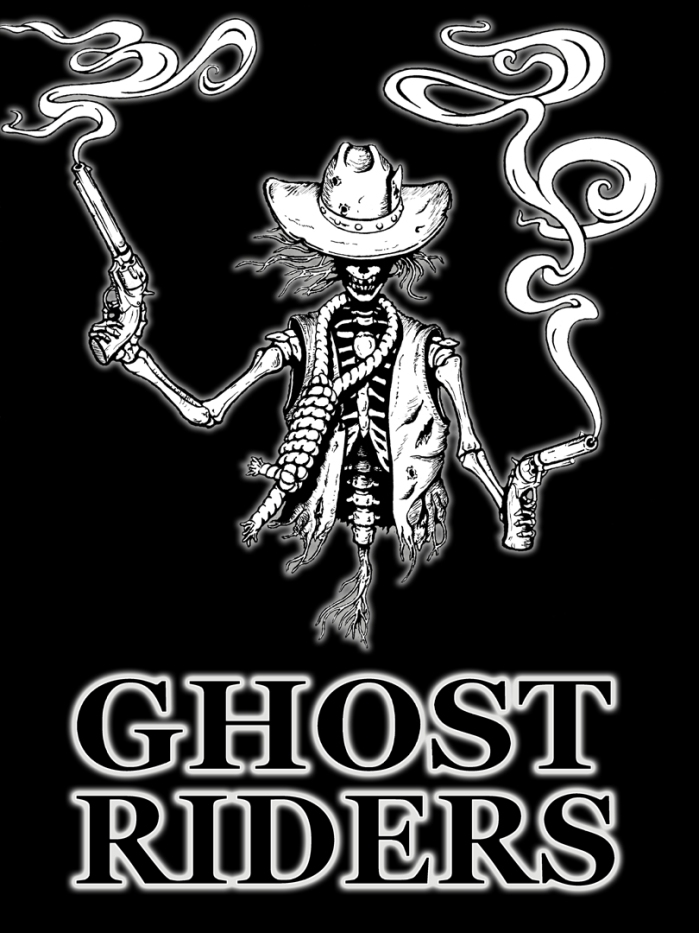 Ghost Riders Skeleton (black & white)